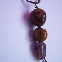Stone Necklace with Amethyst