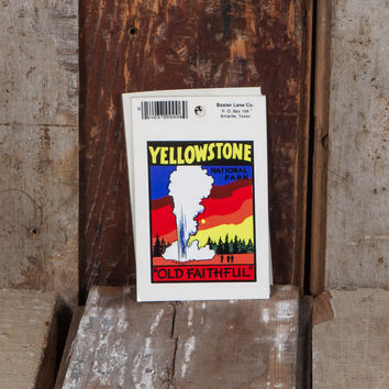 Yellowstone National Park Old Faithful - Vintage Bumper Sticker
