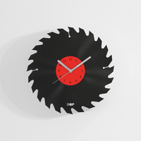 Mancave home decor clock from upcycled vinyl record (LP) | Hand-made gift for music lover | Unique, original home wall decoration, present
