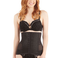Rago Pinup Simply Smooth Waist Corselet in Onyx