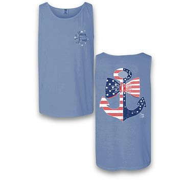 Sassy Frass Old Glory USA American Flag Anchor Comfort Colors Bright T Shirt Tank Top