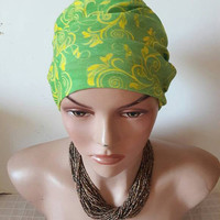 Green Floral Headband Yoga Headband Fitness Headband Running Headband Tube Bandana Earwarmer Festival Dreadlock Headband  Hair Accessories