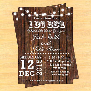 I do bbq engagement party, i do bbq party, i do bbq invitation, I do bbq engagement, i do bbq engagement invitations, Art Party Invitation