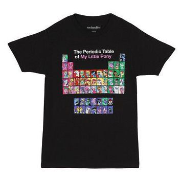 My Little Pony The Periodic Table of MLP Licensed Adult T-Shirt - Black