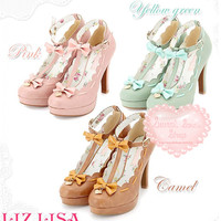 Liz Lisa Lolita Bow T-Bar Heels