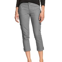 Banana Republic Womens Factory Linen Cargo Crop