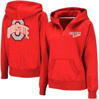 Ohio State Buckeyes Women's Heritage V-Neck Hoodie Pullover - Scarlet