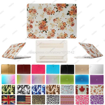 "Rainbow Camo protective Smart Shell Ultra-thin Matte Hard shell Case Cover For 11"" 12"" 13"" 15"" Apple Mac Macbook Air Pro Retina"