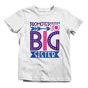 Girl's Promoted to Big Sister Dotty T-Shirt Cute Shirt Promoted to T-Shirt