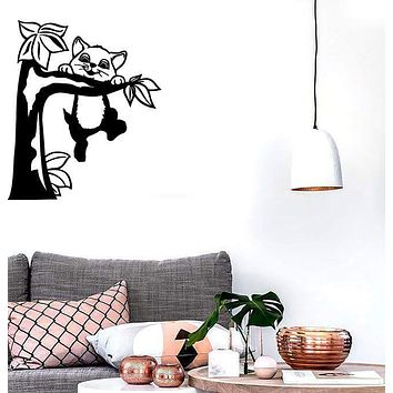 Wall Stickers Vinyl Decal Tree Kitten Cat Animal Pet Funny Unique Gift ig1613