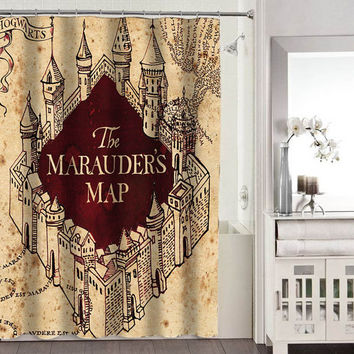 the marauders map shower curtains adorabel bathroom heppy shower curtains.