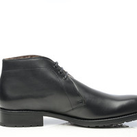 SHOEPASSION.com – Goodyear-welted lambskin boot in black