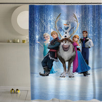 disney frozen special custom shower curtains that will make your bathroom adorable.