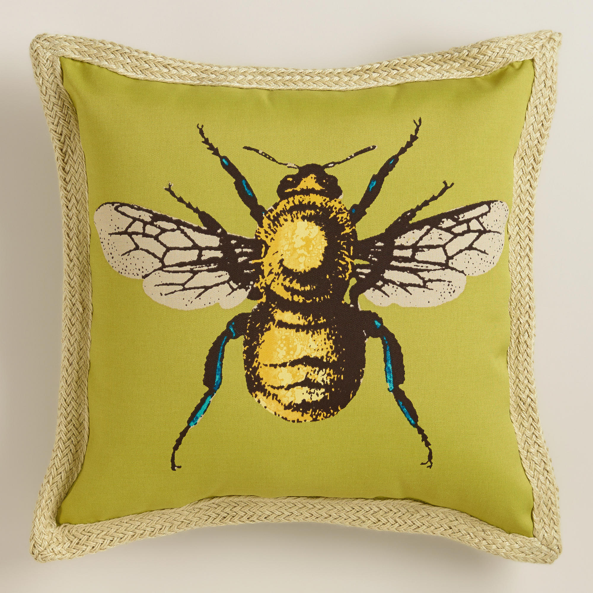 Bee Outdoor Throw Pillow From Cost Plus World Market