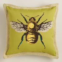 Bee Outdoor Throw Pillow