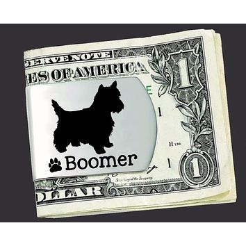 West Highland White Terrier Personalized Money Clip | Westie