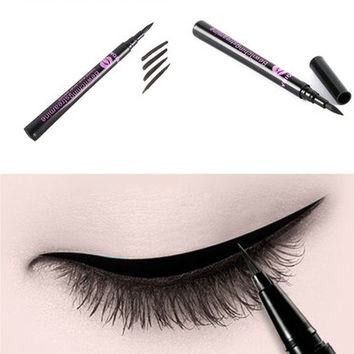 New Black Waterproof Eyeliner Liquid Eye Liner Pen Pencil Makeup Beauty Cosmetic  [8072708871]