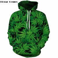 PLstar Cosmos Harajuku hooded shirts BUD coral weed galaxy print 3d hoodie Women Men punk Sweatshirts Outfits Casual Sweats