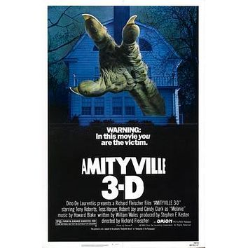 Amityville 3D Movie poster Metal Sign Wall Art 8in x 12in
