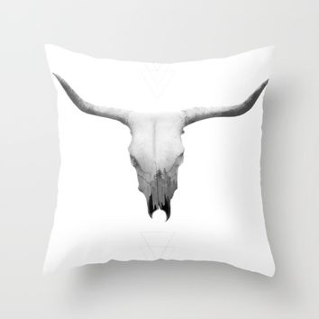 Horns Throw Pillow by Brittany