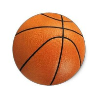 Basketball Stickers from Zazzle.com