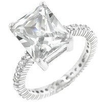 Radiant Cut Engagement Ring, size : 06