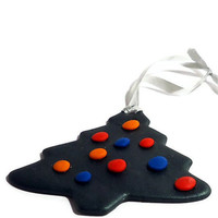 Polymer clay christmas tree hanging decoration MADE TO ORDER