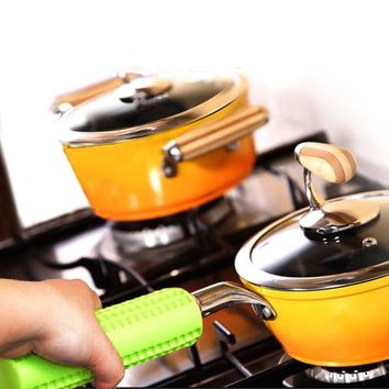 Hot Pot Handle Holder Heat Resistant Hanging Hole