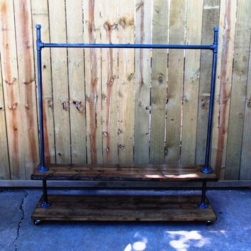 Florida II, reclaimed wood clothing rack, garment rack, store fixture, ,coat rackmade to order