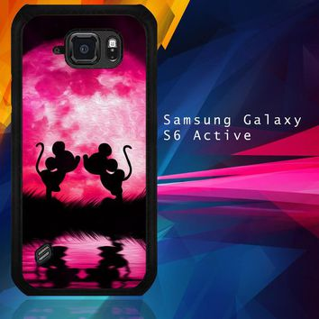 Mickey Minnie Mouse Silhouette W4418 Samsung Galaxy S6 Active  Case