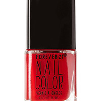 FOREVER 21 Red Hot Nail Polish Sophisticate One