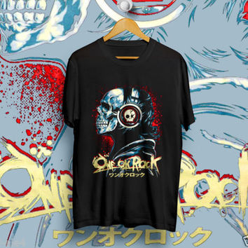 ONE OK ROCK SKULL BLACK T-Shirt Unisex Size S,M,L,XL | DESIGN1512