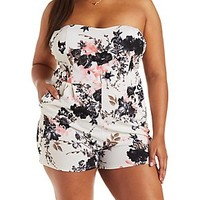 PLUS SIZE STRAPLESS SWEETHEART ROMPER