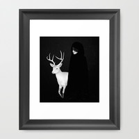 Absentia Framed Art Print by Ruben Ireland