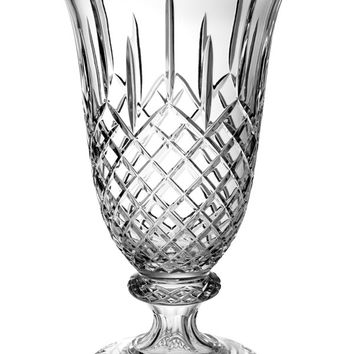 """Majestic Gifts PL-118 Hand Cut Crystal Footed Vase, 18""""H"""