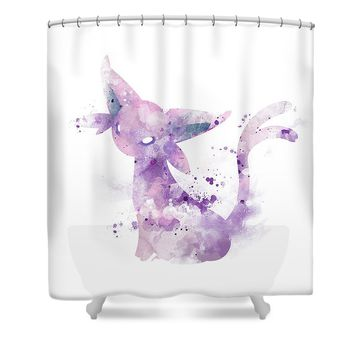 Pokemon Espeon Shower Curtain
