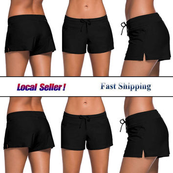 Cross1946 Women Boardshort Bikinis panties bathing slips shorts Two-Piece Separates swimwear Beach wear swimsuit Bikini Bottoms