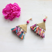 "Tassel statement earrings ""Astrid"""