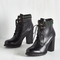 Urban Street Style Fashion Show Bootie in Ink