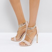 Office Hollywood Blush Heeled Sandals at asos.com