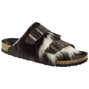 Birkenstock Women's Arizona Fur Brown Oiled Leather/Fur Sandals