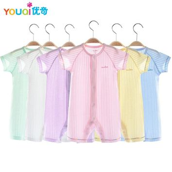 YOUQI Summer Baby Rompers 100% Cotton Brand Baby Girls Clothes Boys Pajamas Suit 3 6 9 Months Infant Jumpsuit Clothing For Baby