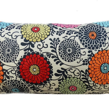 Lydia Floral And Fur Pillow
