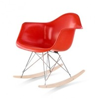 Eames Molded Fiberglass Armchair with Rocker Base | YLiving