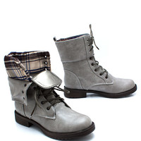 Mad-For-Plaid-Foldover-Boots BLACKRED BROWNBROWN STONEBLUE - GoJane.com