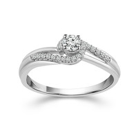 Sterling Silver 1/4cttw Diamond Promise Ring