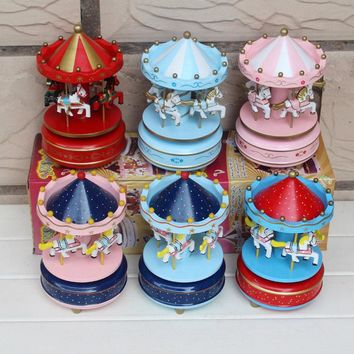 (On Sale)  Carousel Music Box Christmas and birthday gift free shipping
