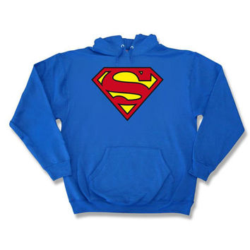 Superman Classic Logo Mens Pullover Hoodie