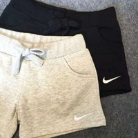 Nike Women Fashion Black/Gray Leisure Shorts