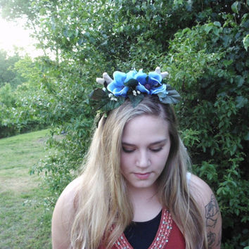 Fawn deer antler flower crown deer antler headband whimsical headband woodland headband fairy costume
